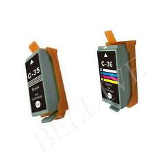 KIT 2 Cartucce Compatibile per Canon PGI-35 nero CLI-36 colore iP 100 / iP 110