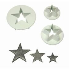 More details for pme star pastry cutters in white made of hard wearing plastic set of 3