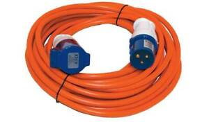 Caravan Cable Lead Hook Up Extension 230V 16A 3pin Electric Mains Lead