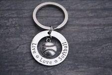 Softball Coach Keychain, Softball Jewelry, Perfect Softball Coach Gifts