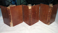 """Sir Walter Scott """"The Pirate"""" 1st edition 1822 Complete 3 volume set leather"""