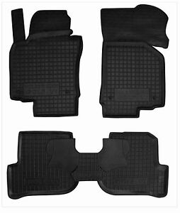 Rubber Car Floor Mats All Weather Alfombras Goma Carmats VW GOLF VI 2008-2012