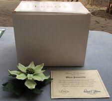 Lenox Garden Flower White Poinsettia Figurine Fine Porcelain Mint in Box