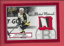 2005-06 UD BEEHIVE JOE THORNTON GAME USED JERSEY MATTED MATERIALS
