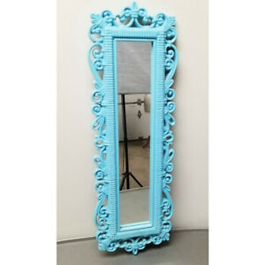 Vintage Painted Distressed Dart Syrocco Homco Rectangle Decorative Mirror 1978