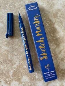 NIB TOO FACED Sketch Marker Liquid Art Waterproof Eyeliner DEEP NAVY BLUE