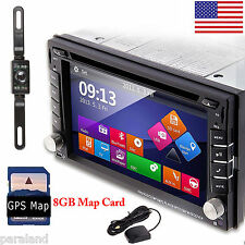 "6.2"" GPS Navi HD Double 2din Car Stereo DVD Player Bluetooth iPod Mp3 Radio CAM"