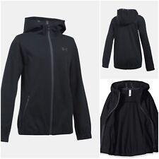 NWT UNDER ARMOUR Storm Girls Lightweight Swacket Jacket Black Size S (7-8)