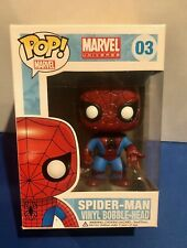 MARVEL SPIDER MAN #03 FUNKO POP Vinyl Figure ORIGINAL LARGE LETTERING BOX damage