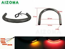 "Motorcycle 1PC 7/8"" Rear Seat Hoop Loop Frame With Led Brake Running Tail Lights"