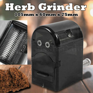 Herb Grinder Tobacco Cutter Hand Muller Shredder with Tobacco Storage Case AU