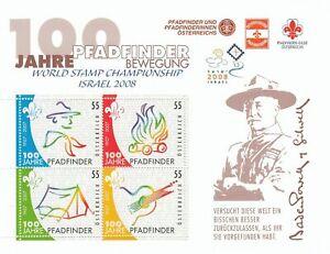 283387 / Österreich Block ** MNH 2008 Israel Scout Pfadfinder