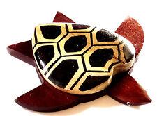 Tortue en Bois Décoration Peint Artisanat 12 cm collection Wooden Turtle