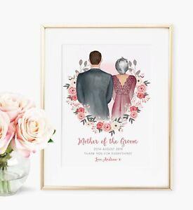 Mother of the Groom Personalised Wedding Bridal Print Keepsake Gift UNFRAMED