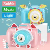 Pink Cat Automtic Bubble Machine Maker Bubble Blowing Camera Music Lighting F