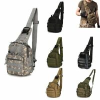 Men Tactical Chest Bag Backpack Molle Crossbody Sling Messenger Shoulder Pack