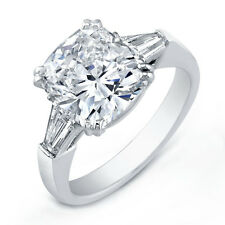 18kt H SI 2.20ct Cushion Cut Diamond Engagement Ring