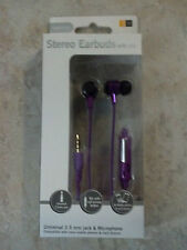 New Purple Case Logic Earbuds with Mic Universal For Cell Phones and MP3 Players