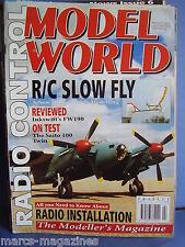 RCMW RC MODEL WORLD FEBRUARY 1996 GLOBAL SKYRAIDER STEVE HALEY STU BLANCHARD