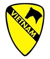 1st Cavalry Division Vinyl VIETNAM Window Sticker Decal - 1st Cav - Color