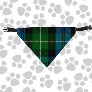 Clan Lamont Dog Scarf Plaid Tartan Scottish Pet Bandana with Buckled Collar