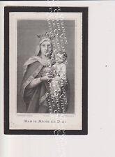 Oud doodsprentje DP E.F.C De Preter Putte 1882 Gravure Marie Mère de Dieu