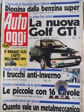 Auto OGGI n°209 1990 Nuova Golf GTi - Speciale Test delle 16 Vavole  [Q200]