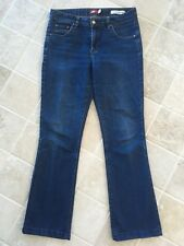 WOMENS JAG JEANS SIZE 10, DARK BLUE, HIGH RISE, BOOT CUT, COTTON/POLYESTER #1107