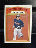 2021 Topps Heritage In Action #40 Topps News Freddie Freeman Atlanta Braves