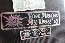 YOU MADE MY DAY - Happy Sun Christian Spirituality God AA NA Sticker Lot of 2