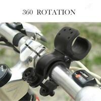 Bicycle Bike Cycling Flashlight Torch LED Mount Holder Clip Clamp 360° Swivel