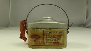 President McKinley Roosevelt Campaign Promo Item Full Dinner Bucket Lunchbox