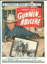 Fawcett Movie Comics #7 1950-Rocky Lane-photo covers-Bob Powell art-VG