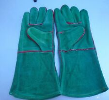 NEW Leather BBQ Rotisserie Fireplace Woodstove Gloves SIZE Small 1 PR.
