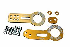 GOLD FRONT AND REAR TOW HOOK SET FOR RACE TRACK CAR - BENEN STYLE - UNIVERSAL