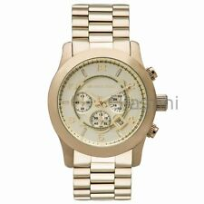 Michael Kors Original MK8077 Men's Runway Oversized Gold Chrono Watch 45mm