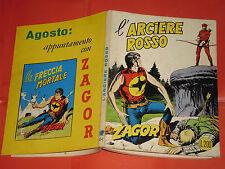 ZAGOR ZENITH- ORIGINALE- N°112 b -LIRE 200- (ZAGOR gigante N°61)-DEL 1970- raro