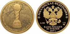 50 Rubel Russland PP 1/4 Oz Gold 2017 FIFA Confederations Cup in Russia Football