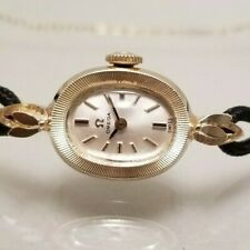 OMEGA VINTAGE LADIES 14K SOLID YELLOW GOLD HAND WIND VERY CLEAN CIRCA 1969