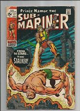 SUB-MARINER #17 VG- VERY GOOD- OW/WHITE PAGES  SILVER AGE  MARVEL COMICS 1969