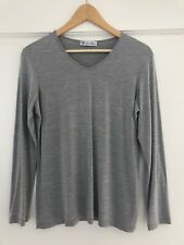 Loro Piana Grey Silk T Shirt L 10-12