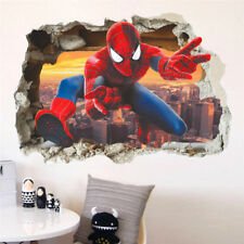 Adesivo parete Spiderman uomo ragno 3D muro Cameretta bambini Wall Stickers