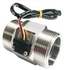 """1PC S304 1.5"""" DN40 2~150L/min water Hall Turbine flow sensor industry meter NEW"""