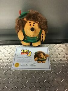 Toy story  rare discontinued mr prickle pants with certificate of authenticity..