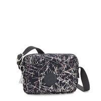 Kipling Mini Shoulder Bag ABANU Crossbody NAVY STICK PRINT Holiday 2019 RRP £67