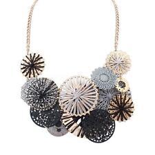 Fashion Women Gold Plated Flower Statement Choker Chunky Necklace Jewelry