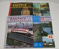 Railpace Newsmagazine Lot Of 6 1985