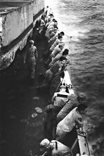 New 5x7 Korean War - Conflict Photo: U.S. Marines Aboard the USS CLYMER, 1950