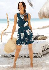 Beachtime Strandkleid mit Blumenprint, blau. NEU!!! SALE%%%