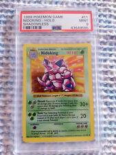 1999 Pokemon Game Nidoking - Holo Shadowless #11PSA 9 MINT